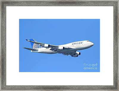 United Airlines Boeing 747 . 7d7850 Framed Print