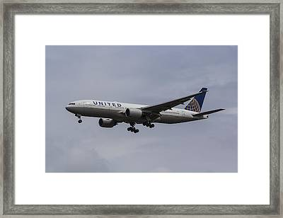 United Airlines Boeing 777 Framed Print