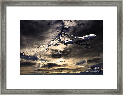United Airlines . Flying The Friendly Skies Framed Print