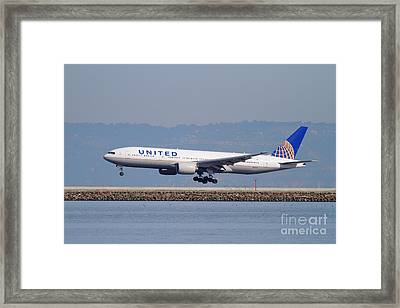 United Airlines Jet Airplane . 7d11794 Framed Print