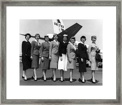 United Airlines Stewardesses Model Framed Print