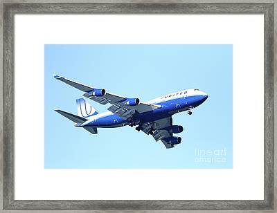 United Airplane That Buzzed The Golden Gate Bridge Framed Print by Wingsdomain Art and Photography