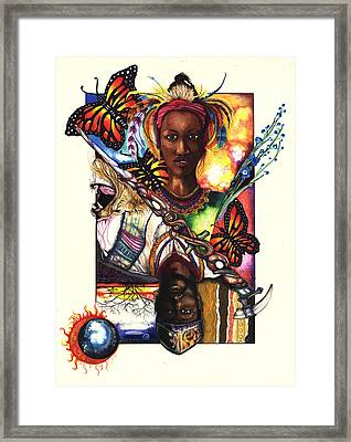 United Framed Print by Anthony Burks Sr