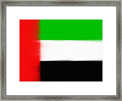 United Arab Emirates Painted Flag Framed Print by Dan Sproul