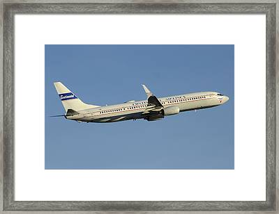 United Boeing 737-924 N75436 Retro Continental Phoenix Sky Harbor December 9 2015 Framed Print by Brian Lockett