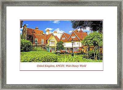 United Kingdom Buildings, Epcot, Walt Disney World Framed Print