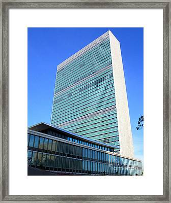 Framed Print featuring the photograph United Nations 1 by Randall Weidner