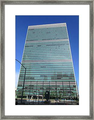 Framed Print featuring the photograph United Nations 3 by Randall Weidner