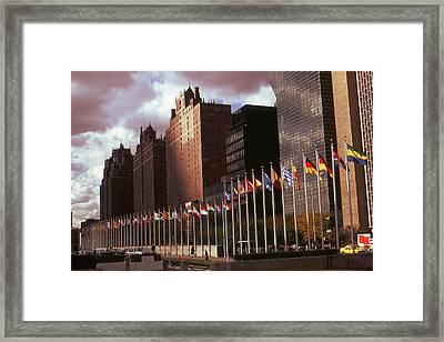 New York - United Nations Flags Framed Print