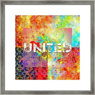 United Framed Print