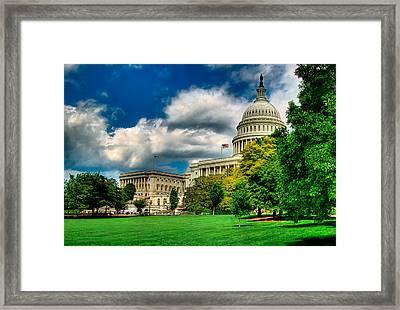 United States Capital House Side Framed Print by Don Lovett