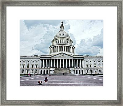 Framed Print featuring the photograph United States Capitol by Suzanne Stout