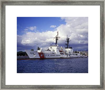United States Coast Guard Cutter Rush Framed Print by Michael Wood