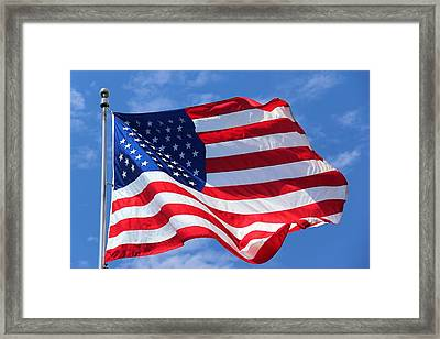 Framed Print featuring the photograph United States Flag by Elizabeth Budd