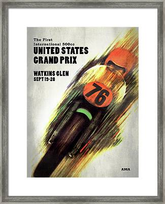 United States Grand Prix Framed Print by Mark Rogan