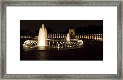 United States National World War II Memorial In Washington Dc Framed Print by Brendan Reals