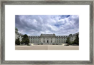 United States Naval Academy - Bancroft Hall Framed Print by Brendan Reals