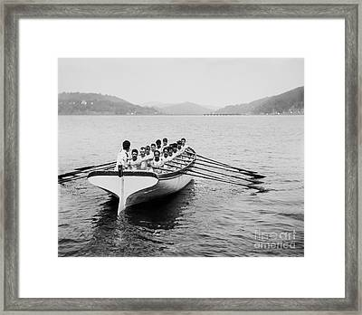 United States Navy Rowing Team Ca 1890 Framed Print