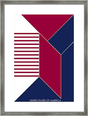 United States Of America IIi - Text Framed Print by Asbjorn Lonvig