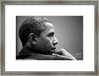 United States President Barack Obama Framed Print