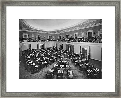 United States Senate Framed Print by Underwood Archives