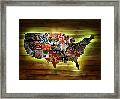 United States Wall Art Framed Print