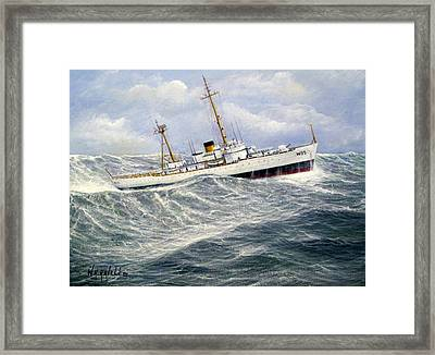 United Statescoast Guard Cutter Ingham Framed Print by William H RaVell III