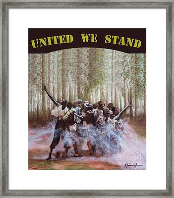 United We Stand Framed Print by Marcella Muhammad