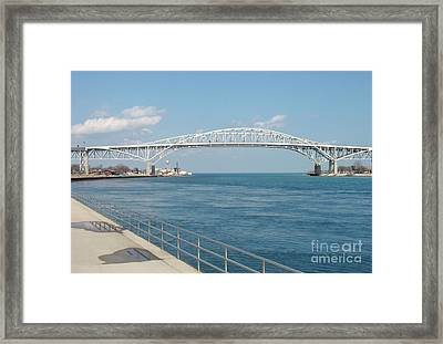Uniting Two Nations Framed Print by Ann Horn