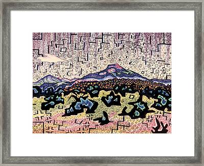 Unity Awareness In The Field Of Space And Time Framed Print