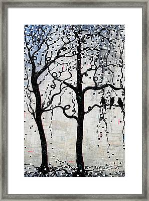 Framed Print featuring the mixed media Unity by Natalie Briney