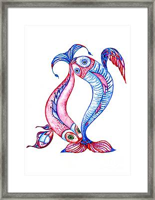 Unity Of Opposites. Perfect Couple Framed Print