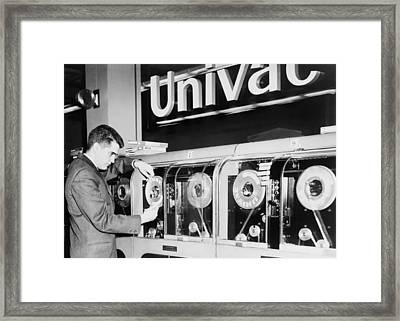 Univac Was The First Computer Designed Framed Print