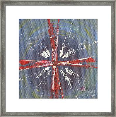 Cross Of Mercy Framed Print by Danielle Tayabas