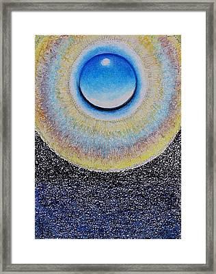 Universal Eye In Blue Framed Print