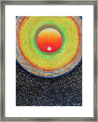 Universal Eye In Red Framed Print
