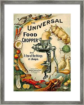 Universal Food Chopper 1897 Framed Print