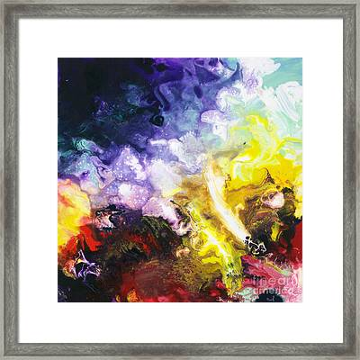 Universal Forces Canvas Two Framed Print by Sally Trace