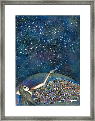 Framed Print featuring the mixed media Universal Magic by Prerna Poojara