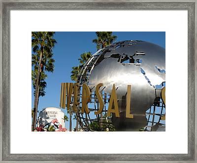 Universal Studios Globe Framed Print by Jeff Lowe