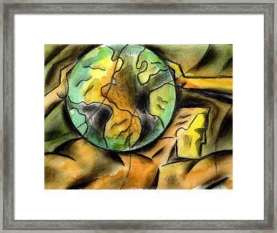 Man And The Universe  Framed Print by Leon Zernitsky