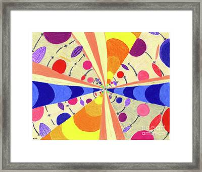 Framed Print featuring the drawing Universals by Kim Sy Ok