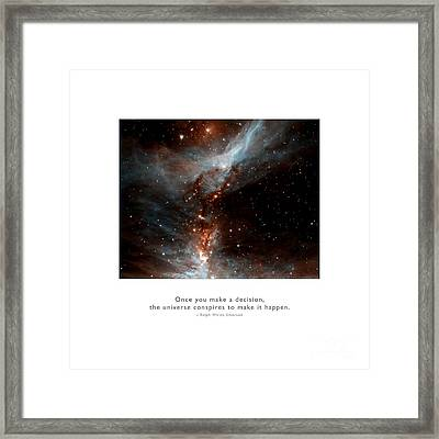 Framed Print featuring the photograph Universe Conspires When You Decide by Kristen Fox