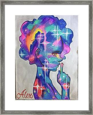 Universe Girl Framed Print