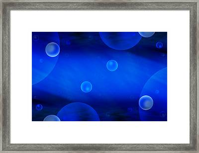 Universe In Blue Framed Print by Mike McGlothlen