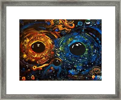 Framed Print featuring the painting Universe Watching by Michelle Audas