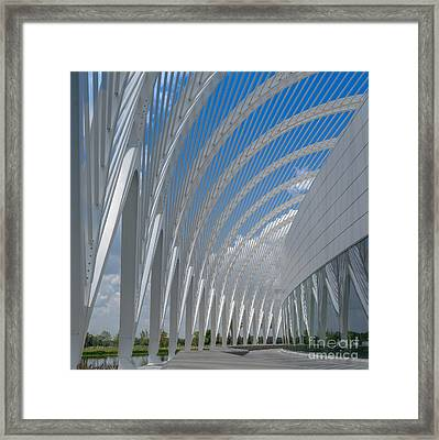 University Arching Lines Framed Print