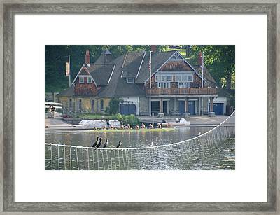 University Barge Club - Philadelphia  Framed Print by Bill Cannon