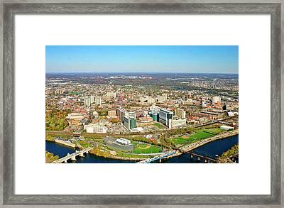 Framed Print featuring the photograph University City Philadelphia Pennsylvania by Duncan Pearson