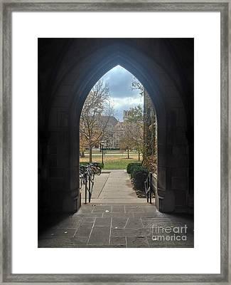 University Gate Framed Print by Jannis Werner